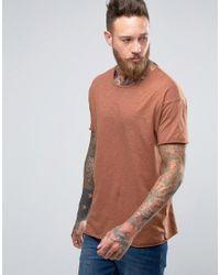 cdb48ec2 Lyst - Nudie Jeans Nudie Raw Hem T-shirt in Brown for Men