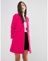 ASOS | Pink Skater Coat With Retro Styling | Lyst