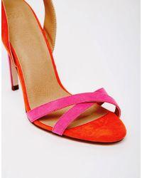 ASOS - Pink Hatter Heeled Sandals - Lyst