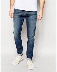 Pepe Jeans Powerflex Finsbury Superstretch Skinny Fit Big Twill Mid Blue for men