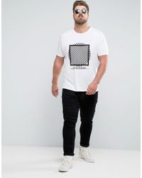 ASOS - White Plus T-shirt With Circle Print for Men - Lyst