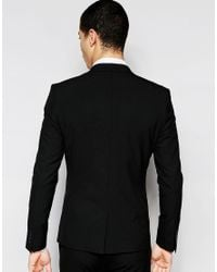 SELECTED - Black Super Skinny Suit Jacket With Stretch for Men - Lyst