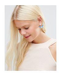 Krystal - Multicolor Swarovski Crystal Butterfly Swing Earrings - Lyst