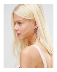 Krystal - Multicolor Swarvoski Crystal Pear Drop Earrings - Lyst