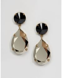 Krystal - Metallic Swarovski Crystal Angelina Earrings - Lyst