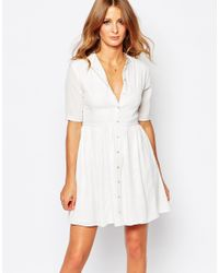 Millie Mackintosh - White Lace Button Through Dress - Lyst