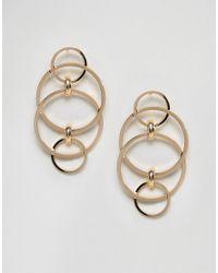 ASOS | Metallic Interlinking Circle Stud Earrings | Lyst