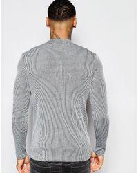 ASOS   Longline Muscle Long Sleeve T-shirt In Gray for Men   Lyst