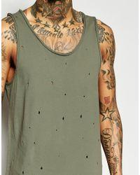 Black Kaviar - Natural Longline Vest With Distressing for Men - Lyst