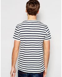 SELECTED - Black Elected Homme Stripe T-shirt for Men - Lyst