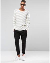 SELECTED - Gray Stripe Sweatshirt for Men - Lyst