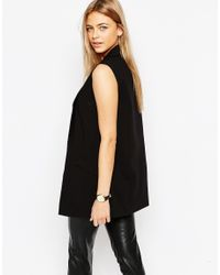 Oasis | Black Sleeveless Jacket | Lyst