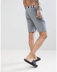 DIESEL - Gray Large Logo Lightweight Lounge Shorts Grey for Men - Lyst