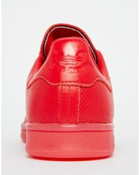 Adidas Originals - Originals Stan Super Colour Scarlet Red Trainers - Lyst