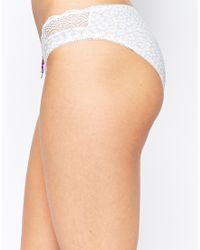 Hotmilk - Gray Show Off Leopard Under The Bump Brief - Lyst