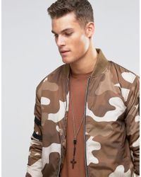ASOS - Cross Necklace In Black And Gold - Black for Men - Lyst