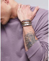 ASOS | Metallic Embellished Bangle Pack In Burnished Finish for Men | Lyst