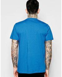 Stussy - Blue T-shirt With Laurel Wreath Logo for Men - Lyst
