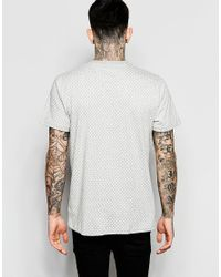 Stussy - Gray T-shirt With Polka Dot Print for Men - Lyst