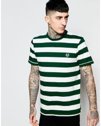 Fred Perry - White T-shirt With Bold Stripe for Men - Lyst