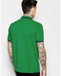 Stussy - Green Polo Shirt With Tipping Slim Fit for Men - Lyst