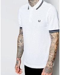 Stussy - White Polo Shirt With Polka Dot Slim Fit for Men - Lyst