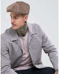 ASOS Baker Boy Hat In Brown Textured Cord in Brown for Men - Lyst 5312de947079