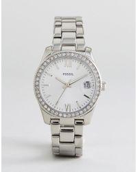 Fossil - Metallic Es4317 Scarlette Mini Bracelet Watch In Silver for Men - Lyst