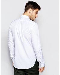 HUGO - Metallic By Boss Smart Shirt Slim Fit In White for Men - Lyst