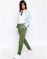 ASOS | Green Casual Chino Pants With Roll Hem | Lyst