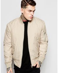Hype Ma1 Bomber Jacket in Natural for Men | Lyst