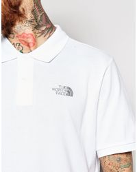 The North Face - White Polo Shirt With Logo for Men - Lyst