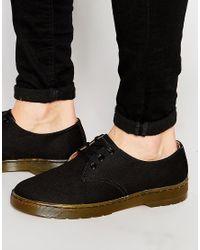 Dr. Martens - Black Delray Canvas Shoes for Men - Lyst