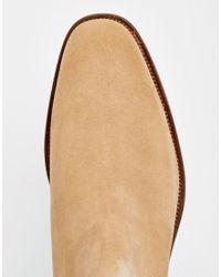 ALDO - Natural Vianello Suede Chelsea Boots for Men - Lyst