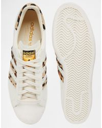 Adidas Originals - White Superstar 80's Pony Effect Sneakers S78955 - Lyst
