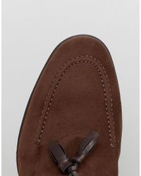 ASOS DESIGN - Loafers In Brown Faux Suede With Tassel for Men - Lyst
