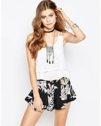 Band Of Gypsies - White Top With Multi Layer - Lyst