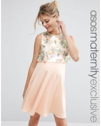 Lyst - ASOS Holographic Sequin Mini Dress in Pink b06d1b819