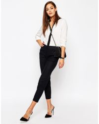 ASOS | Gray Linen Tapered Trouser | Lyst