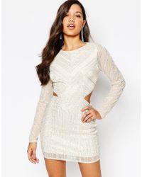 Missguided - Multicolor Premium Cutout Waist Mini Dress - Lyst