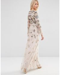 Needle & Thread - Tiered Woodland Lace Maxi Dress - Petal Pink - Lyst