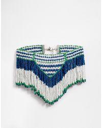 ASOS | Blue Holiday Seedbead Choker Necklace - Multi | Lyst