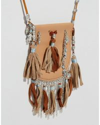 ASOS - Brown Festival Beaded Purse Necklace - Lyst