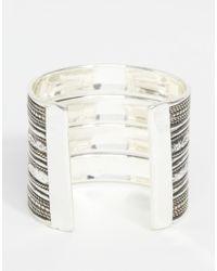 ASOS - Metallic Festival Bar Cuff Bracelet - Lyst