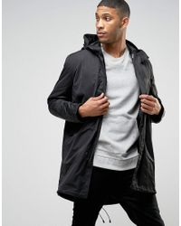 ASOS | Parka Jacket With 2 In 1 Inner Bomber In Black for Men | Lyst