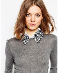 ASOS | White Applique Flower Collar | Lyst