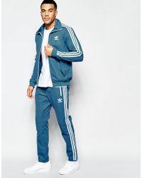 Adidas Originals - Shattered Stripe Track Top In Blue Az3268 for Men - Lyst