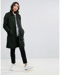ONLY Black Ella Long Bomber Jacket
