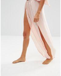 ASOS | Pink Savanna Open Wrap Pajama Satin Cami & Pant Set | Lyst