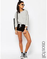ASOS - Basic Runner Shorts With Contrast Binding - Black - Lyst